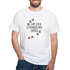 Bluetick Coonhound Dad White T-Shirt