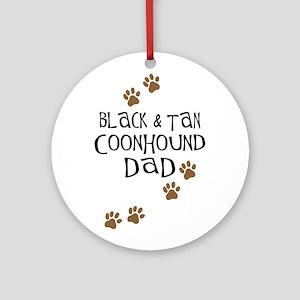 Black & Tan Coonhound Dad Ornament (Round)