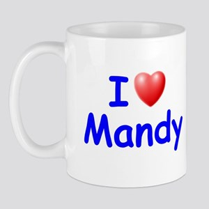 I Love Mandy (Blue) Mug