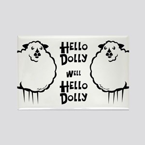 Hello Dolly Sheep Rectangle Magnet