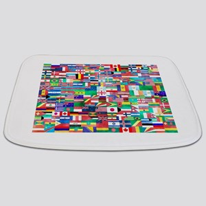 World Flag Collage Bathmat