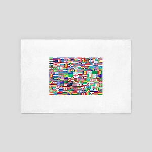 World Flag Collage 4' x 6' Rug