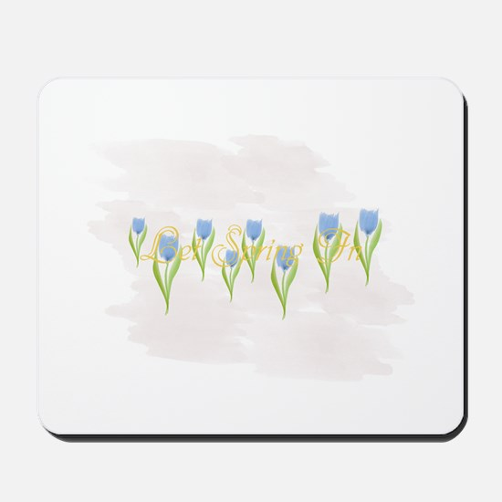 Tulips Spring Watercolor Mousepad