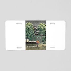 Udo Tower, Kumamoto Castle Aluminum License Plate
