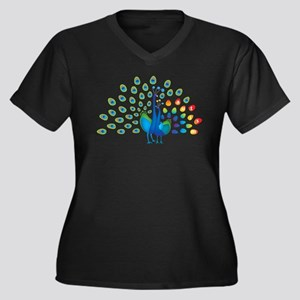 Autism peacocks Women's Plus Size V-Neck Dark T-Sh