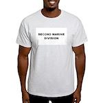 SECOND MARINE DIVISION Ash Grey T-Shirt
