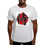 Japanese Samurai Symbol Ash Grey T-Shirt