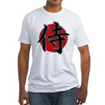 Japanese Samurai Symbol Fitted T-Shirt