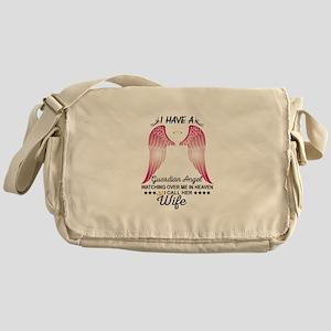 My Wife Is My Guardian Angel Messenger Bag