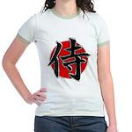 Japanese Samurai Symbol Jr. Ringer T-Shirt