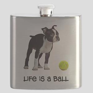 Boston Terrier Life Flask