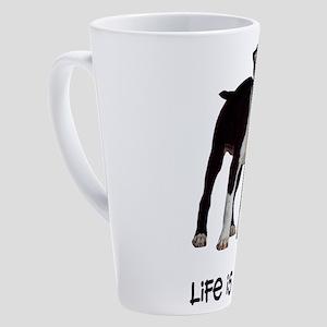 Boston Terrier Life 17 oz Latte Mug