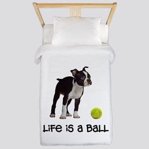 Boston Terrier Life Twin Duvet Cover
