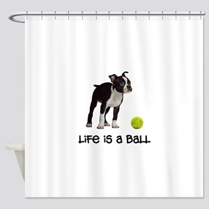 Boston Terrier Life Shower Curtain