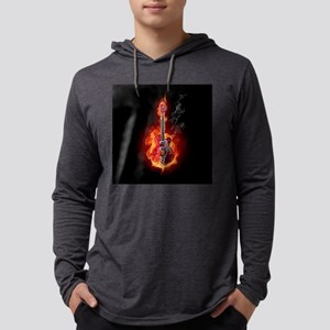 Flaming Guitar Long Sleeve T-Shirt
