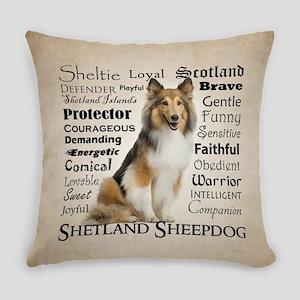 Sheltie Traits Everyday Pillow