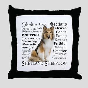 Sheltie Traits Throw Pillow
