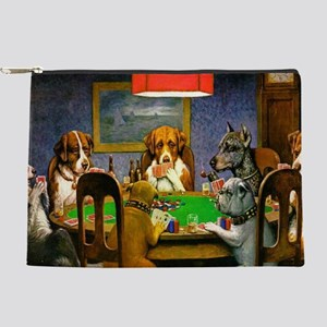 Dogs Playing Poker Makeup Bag