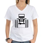 BIG WHEELS Women's V-Neck T-Shirt