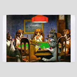 Dogs Playing Poker 4' x 6' Rug