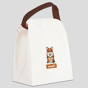 Cute Pembroke Cardigan Welsh Corg Canvas Lunch Bag
