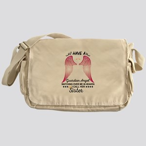 My Sister Is My Guardian Angel Messenger Bag