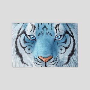 Fantasy White Tiger 4' x 6' Rug
