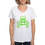 colors big wheel Women's V-Neck T-Shirt
