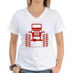 red big wheel Women's V-Neck T-Shirt