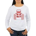 red big wheel Women's Long Sleeve T-Shirt