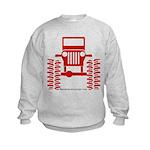 red big wheel Kids Sweatshirt