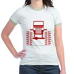 red big wheel Jr. Ringer T-Shirt