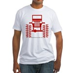 red big wheel Fitted T-Shirt