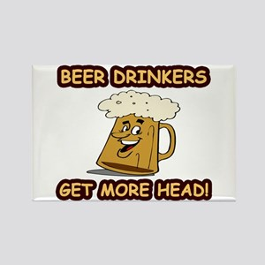 """Beer Drinkers Get More Head!"" Rectangle"