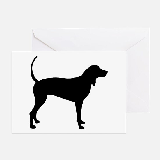 Coonhound Greeting Card