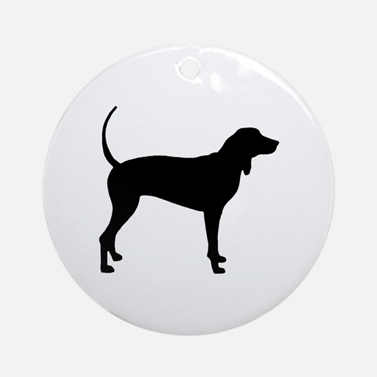 Coonhound Ornament (Round)