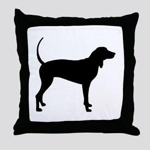Coonhound Throw Pillow