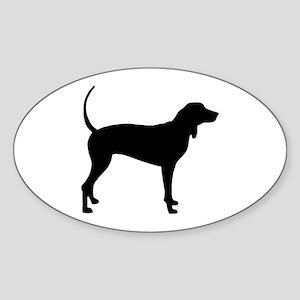 Coonhound Oval Sticker