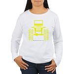 Yellow big wheel Women's Long Sleeve T-Shirt