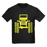 Yellow big wheel Kids Dark T-Shirt