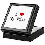 I Heart My Wife Keepsake Box