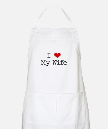 I Heart My Wife BBQ Apron