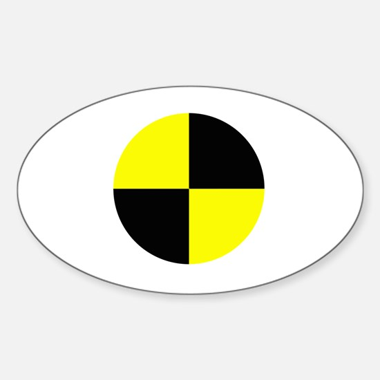 Cute Crash test dummy Sticker (Oval)