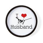 I Heart My Husband Wall Clock