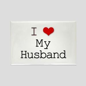 I Heart My Husband Rectangle Magnet