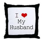 I Heart My Husband Throw Pillow