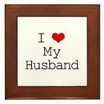 I Heart My Husband Framed Tile