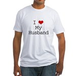 I Heart My Husband Fitted T-Shirt