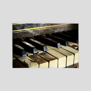Vintage Piano 4' x 6' Rug