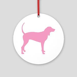 Pink Coonhound Ornament (Round)